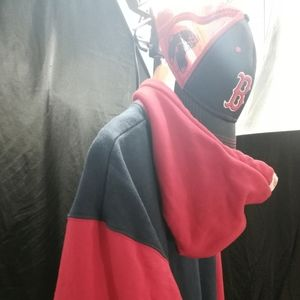 Boston red Sox XL size hoodie and cap